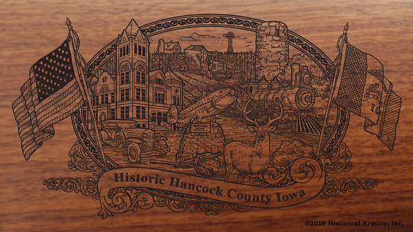 Hancock County Iowa Engraved Rifle