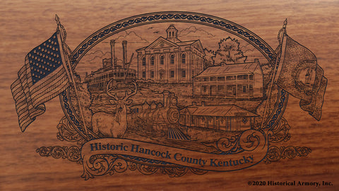 Hancock County Kentucky Engraved Rifle Buttstock