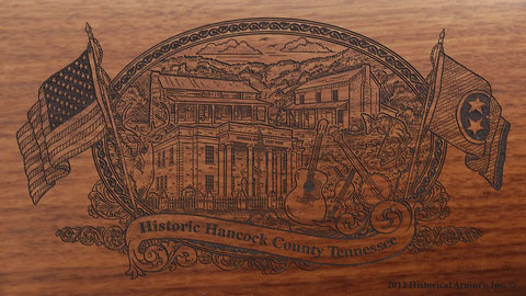 hancock county tennessee engraved rifle buttstock