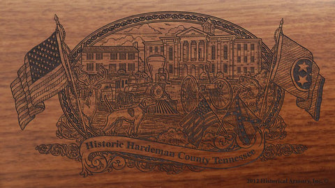 hardeman county tennessee engraved rifle buttstock