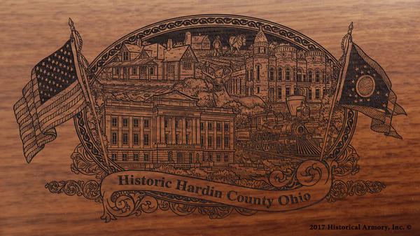 Hardin County Ohio Engraved Rifle