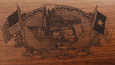 Hardin County Texas Engraved Rifle