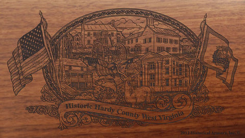hardy county west virginia engraved rifle buttstock