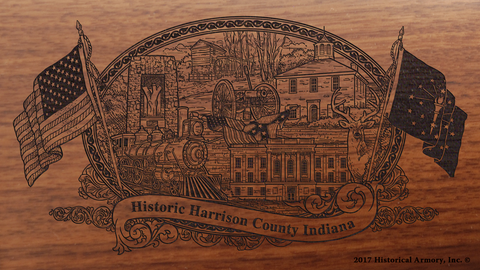Harrison County Indiana Engraved Rifle