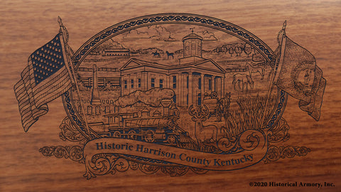 Harrison County Kentucky Engraved Rifle Buttstock