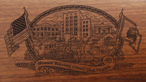 Harrison County West Virginia Engraved Rifle