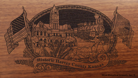 Harvey County Kansas Engraved Rifle