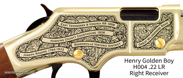 Hawkins County Tennessee Engraved Rifle
