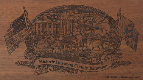 haywood county tennessee engraved rifle buttstock
