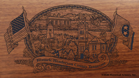 Henderson County Tennessee Engraved Rifle