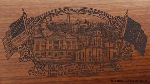 Hendricks County Indiana Engraved Rifle