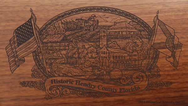 Hendry County Florida Engraved Rifle