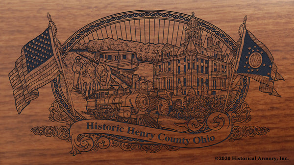 Henry County Ohio Engraved Rifle Buttstock