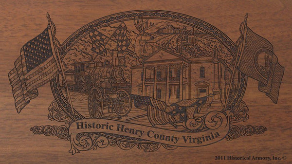 henry county virginia engraved rifle buttstock