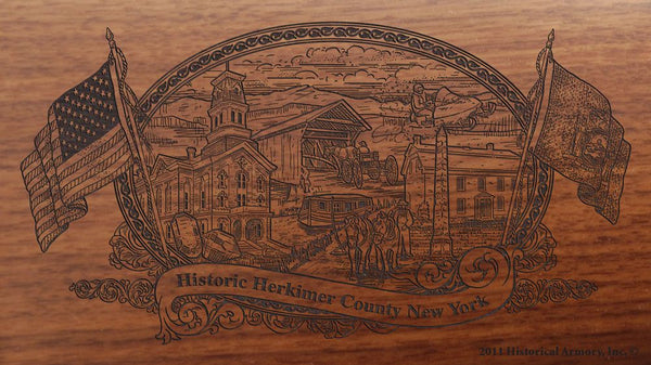herkimer county new york engraved rifle buttstock