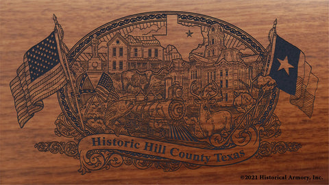 hill county texas engraved rifle buttstock
