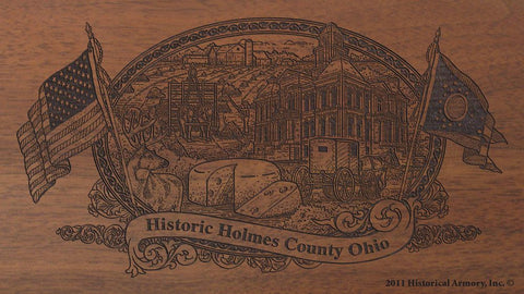 holmes county ohio engraved rifle buttstock