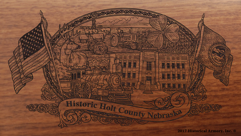 Holt County Nebraska Engraved Rifle