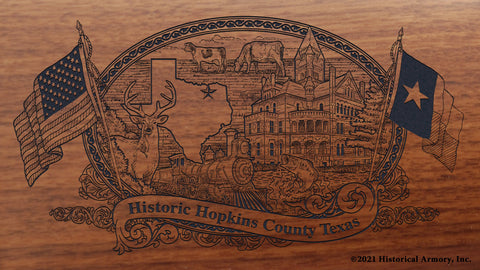Hopkins County Texas Engraved Rifle Buttstock