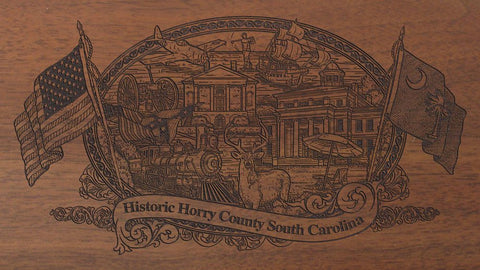 horry county south carolina engraved rifle buttstock
