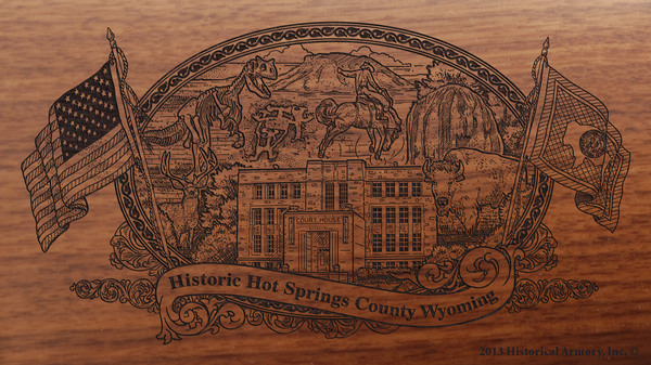 Hot Springs County Wyoming Engraved Rifle