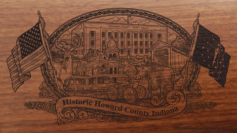 Howard County Indiana Engraved Rifle