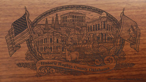 hughes county oklahoma engraved rifle buttstock
