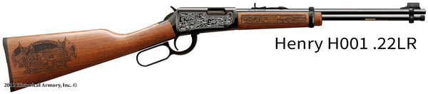 Humboldt County California Engraved Rifle