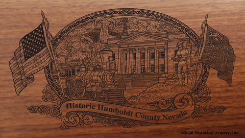 Humboldt County Nevada Engraved Rifle