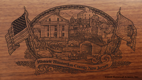 Hunterdon County New Jersey Engraved Rifle
