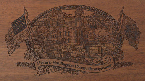 huntingdon county pennsylvania engraved rifle buttstock