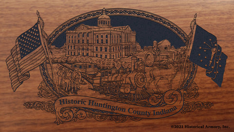 Huntington County Indiana Engraved Rifle Buttstock