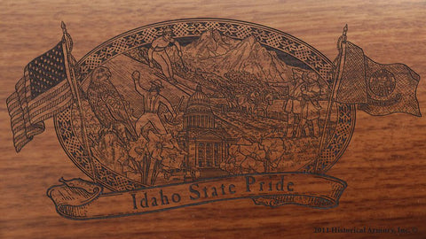 idaho state engraved rifle buttstock