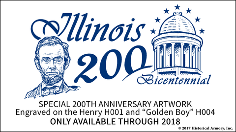 Illinois 200th Anniversary Engraved Rifle - Only available through 2018