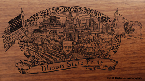 Illinois State Pride Engraved Rifle