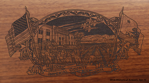 Imperial County California Engraved Rifle