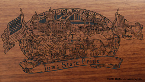 Iowa State Pride Engraved Rifle