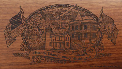 island county washington engraved rifle buttstock