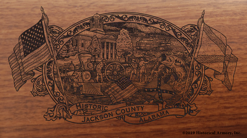 Jackson County Alabama Engraved Rifle