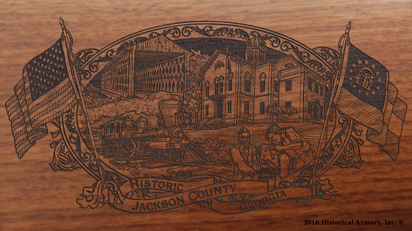 Jackson County Georgia Engraved Rifle