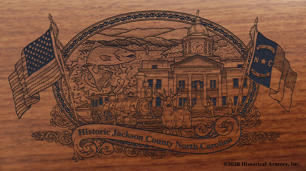 jackson county north carolina engraved rifle buttstock