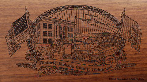 Jackson County Oklahoma Engraved Rifle