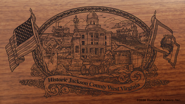 Jackson County West Virginia Engraved Rifle