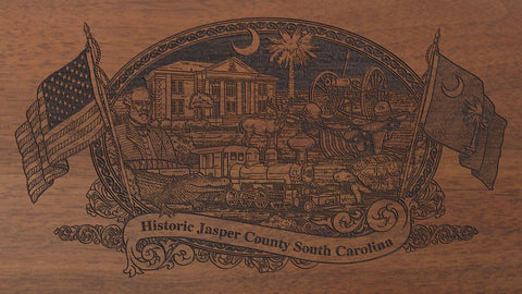jasper county south carolina engraved rifle buttstock