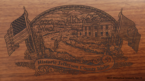 Jefferson County Idaho Engraved Rifle