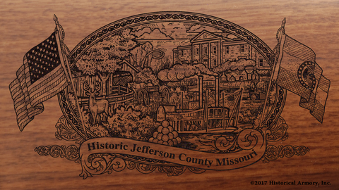 Jefferson County Missouri Engraved Rifle