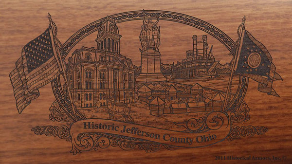 jefferson county ohio engraved rifle buttstock