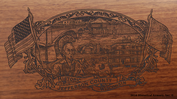 Jefferson County Wisconsin Engraved Rifle
