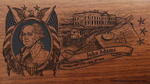 John Adams Limited Edition Engraved Rifle