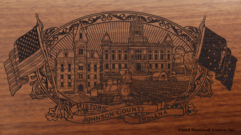 Johnson County Indiana Engraved Rifle